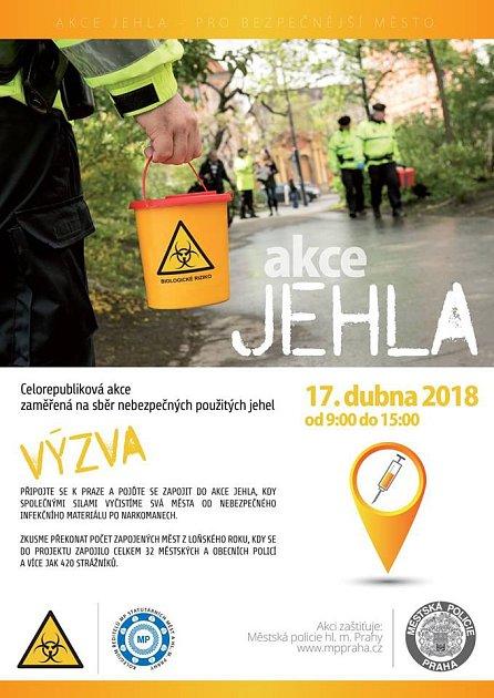 Akce Jehla 2018.Leták.