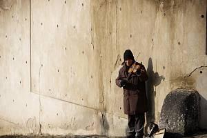 Silný mráz panoval ráno 31. ledna v centru Prahy. Snímek je z Hradčan.