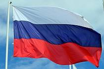 Ruská vlajka. Ilustrační foto.