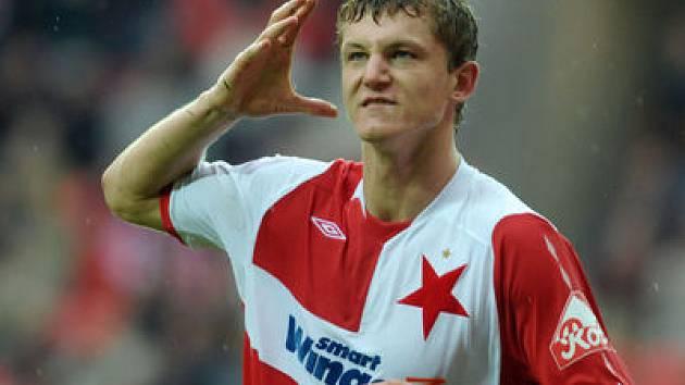 VE FORMĚ. Slávisté a zejména Tomáš Necid jsou v současnosti v herní pohodě. Přenesou si ji z ligy i do Poháru UEFA?