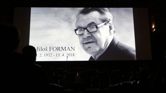 Vzpomínka na Miloše Formana, který zemřel 13. dubna v USA ve věku 86 let, se konala 22. dubna v pražském Obecním domě.