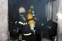 Požár v Střížkovské ulici.