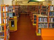 Interiér knihovny na Vinohradech.