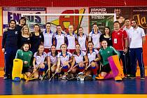 České juniorské halové hokejistky o evropské medaile tentokrát nehrály.