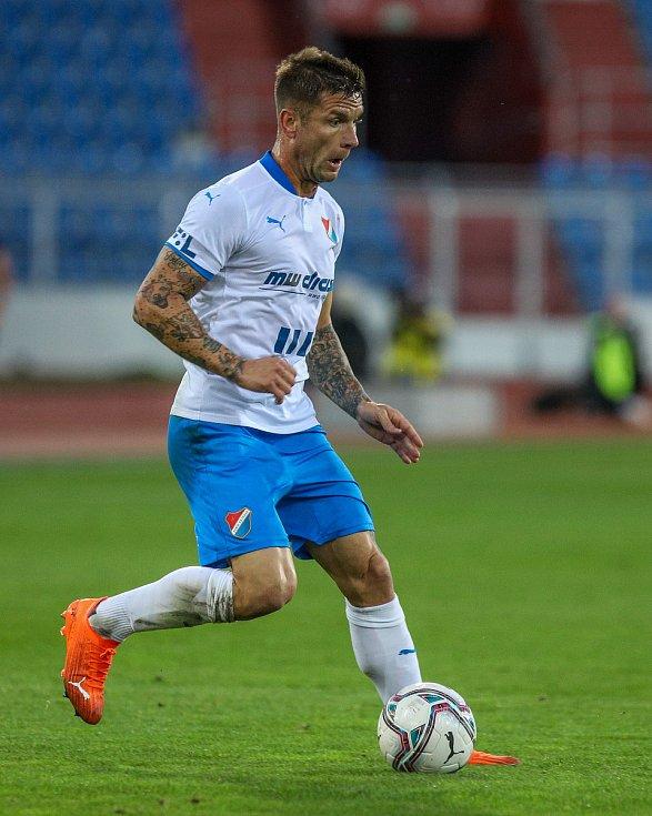 Utkání 6. kola fotbalové Fortuna ligy: FC Baník Ostrava - Slavia Praha, 4. října 2020 v Ostravě. Martin Fillo z Ostravy.