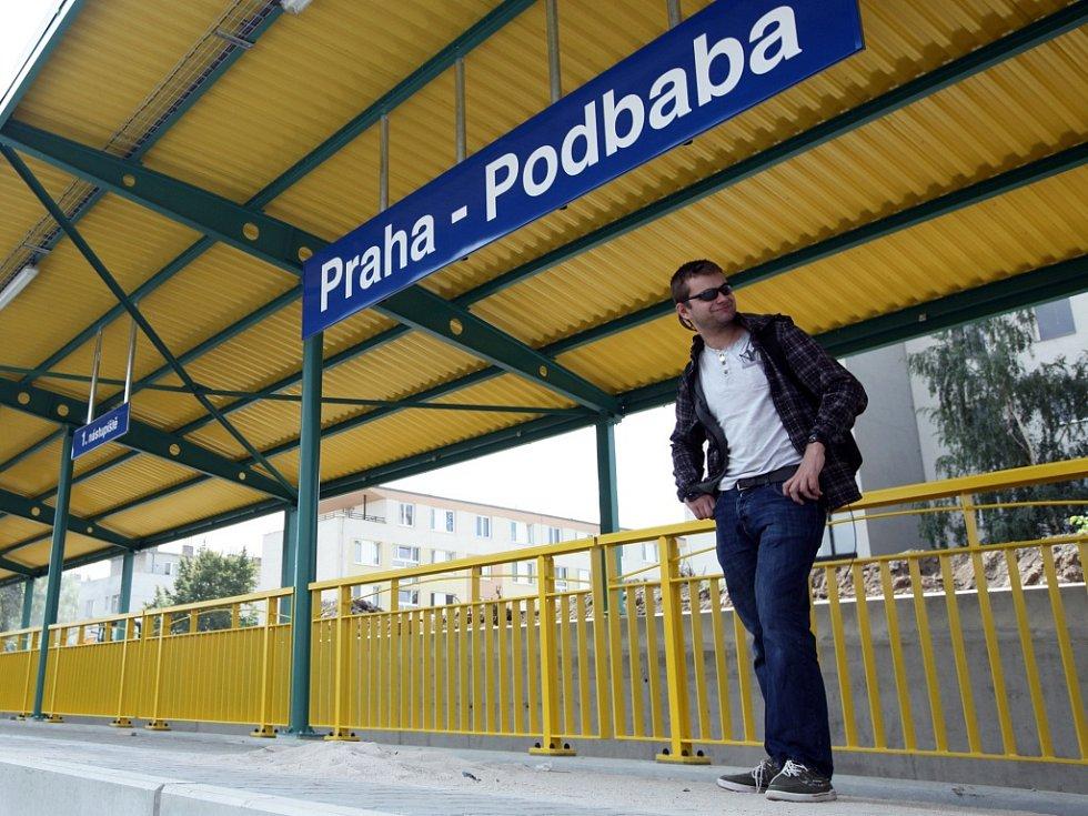 Vlaková zastávky Praha - Podbaba.