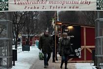Vinohradské masopustní trhy. Tylovo náměstí.