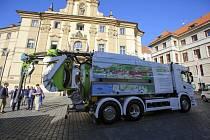 Recyklační vůz na bioCNG.