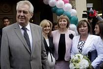 Prezident Miloš Zeman zahájil 2. září školní rok v soukromém gymnáziu Amazon v Praze.