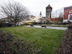 Park u Štefánikova mostu. Ilustrační foto.
