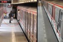 Pražská policie hledá svědky pobodání v metru.