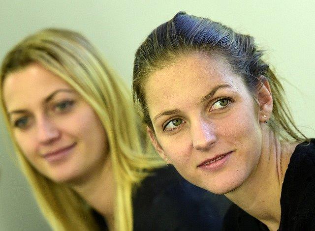 Karolína Plíšková a Petra Kvitová.