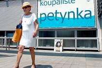 Koupaliště Petynka v Praze.