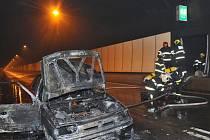 Požár ve Strahovském tunelu.