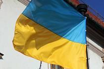 Ukrajinská vlajka. Ilustrační foto.