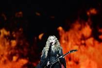 Americká zpěvačka Madonna vystoupila v sobotu 7. listopadu 2015 v Praze.