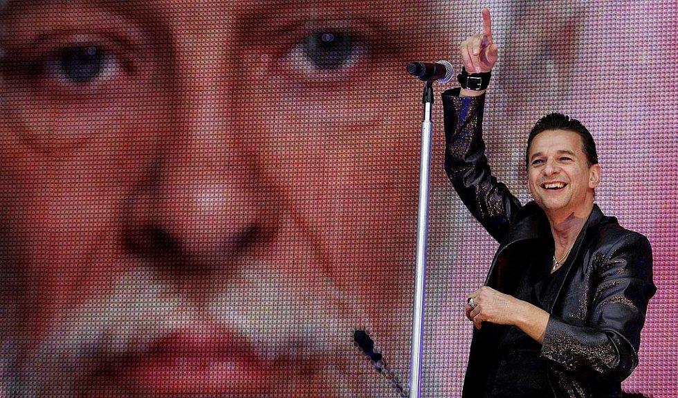 Depeche Mode v Edenu (na snímku zpěvák Dave Gahan).