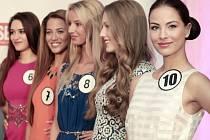 Neformální setkání s deseti finalistkami soutěže Česká Miss 2015 v pražské restauraci La Bottega Bisttroteka.