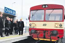 Železniční zastávka Chýně-jih.