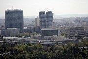 Výškové budovy na Pankráci - pražský Manhattan nebo La Défense, jak kdo chce.