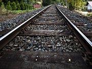 Železniční trať. Ilustrační foto.
