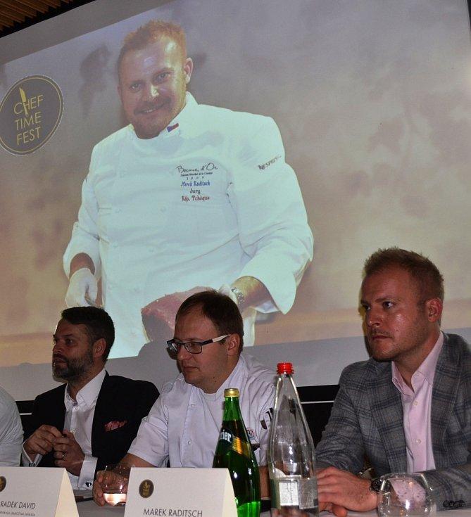Tisková konference v rámci festivalu Chef Time Fest v Praze.