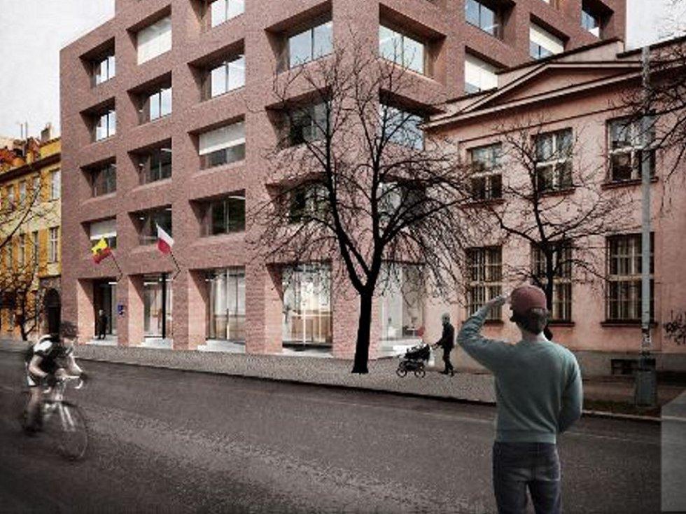 Podoba nové radnice v ulici U Průhonu.