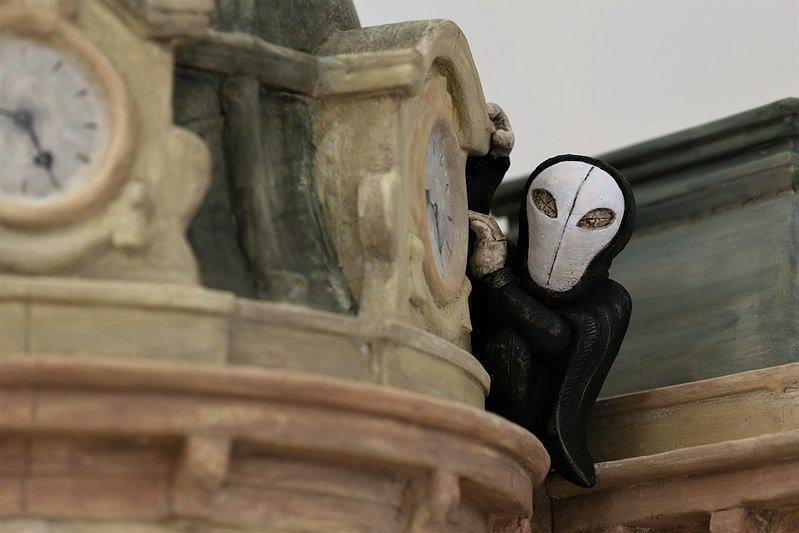 Netradiční betlém můžete vidět v informačním centru Prahy 3