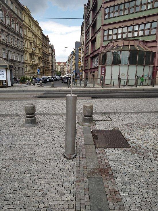 Mlhoviště v Praze 2. Palackého náměstí.