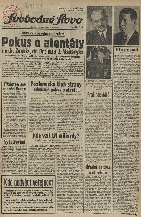 """Tisk hrál v celém případu velkou roli. Po konci druhé světové války byly noviny obecně mnohem zaujatější než dnes a politické strany je využívaly jako """"hlásnou troubu"""". Proto jednotlivé plátky podávají kauzu dost odlišně."""