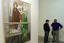 Vernisáž výstavy pozoruhodných děl a kreseb umělce Tomáše Smetany Světlo z vedlejšího pokoje v galerie Dvorak sec contemporary.