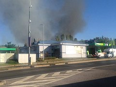 Požár na Barrandově.