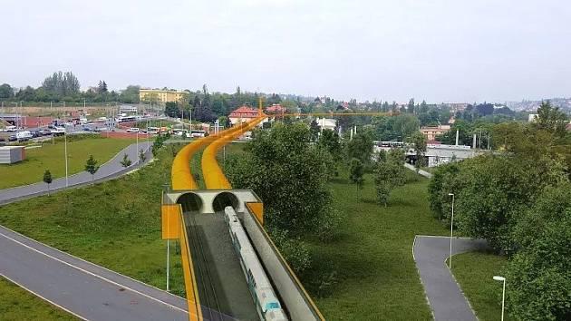 Vizualizace tunelů v Praze 6.
