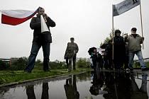 Protestní pochod proti zastavení Litochlebského náměstí na Jižním Městě v Praze.