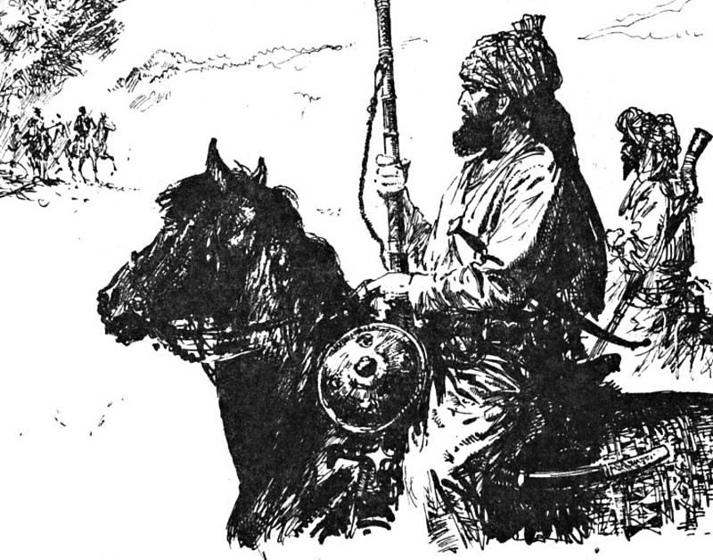 Krumova ilustrace knihy Karla Maye Divokým Kurdistánem.