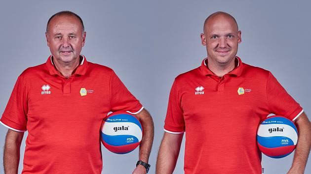 Trenérská dvojice z Lužin – asistent Miroslav Malán (vlevo) a hlavní kouč Tomáš Pomr.