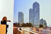Architektka Eva Jiřičná představila 10. července 2019 v Praze projekt na přeměnu centra nového Žižkova, s nímž zvítězila v mezinárodní architektonické soutěži.