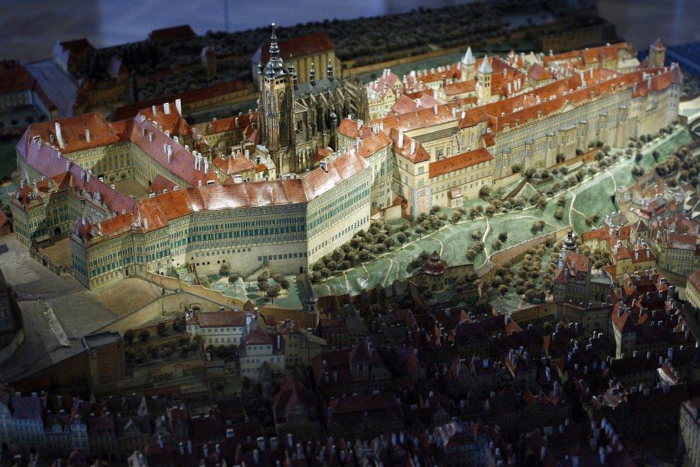 Pražský hrad v celé své tehdejší kráse.