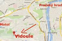 Místo, o které je spor: pozemky kolem Vidoule se nachází zhruba kilometr od Fakultní nemocnice v Motole.