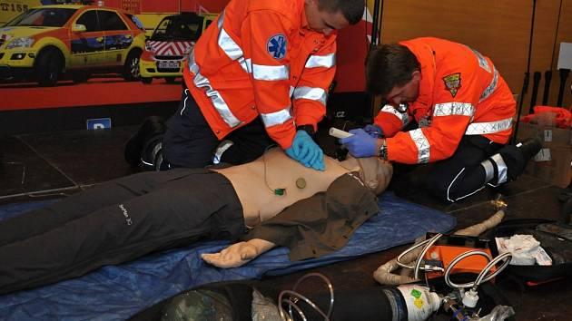 Ukázka resuscitace. Ilustrační foto.