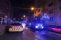 Požár bytu v Podolí