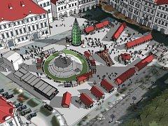 Rozmístění stánků s vánoční tematikou bude na Staroměstském náměstí v Praze v roce 2014 podle pořadatelů rozvolněnější. Díky tomu působí celé trhy vzdušnějším dojmem.