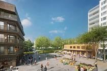 Sídliště Písnice čeká dostavba. Architektonické studio Pavla Hniličky má v urbanistické studii i okolí budoucí stanice metra linky D.
