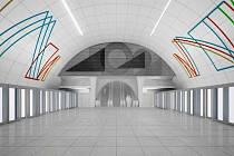 Výtvarné řešení stanice Nové Dvory.