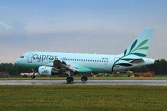 Cyprus Airwais na pražském letišti.