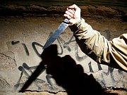 Útočník s nožem. Ilustrační foto.
