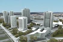 Plánované pankrácké mrakodrapy