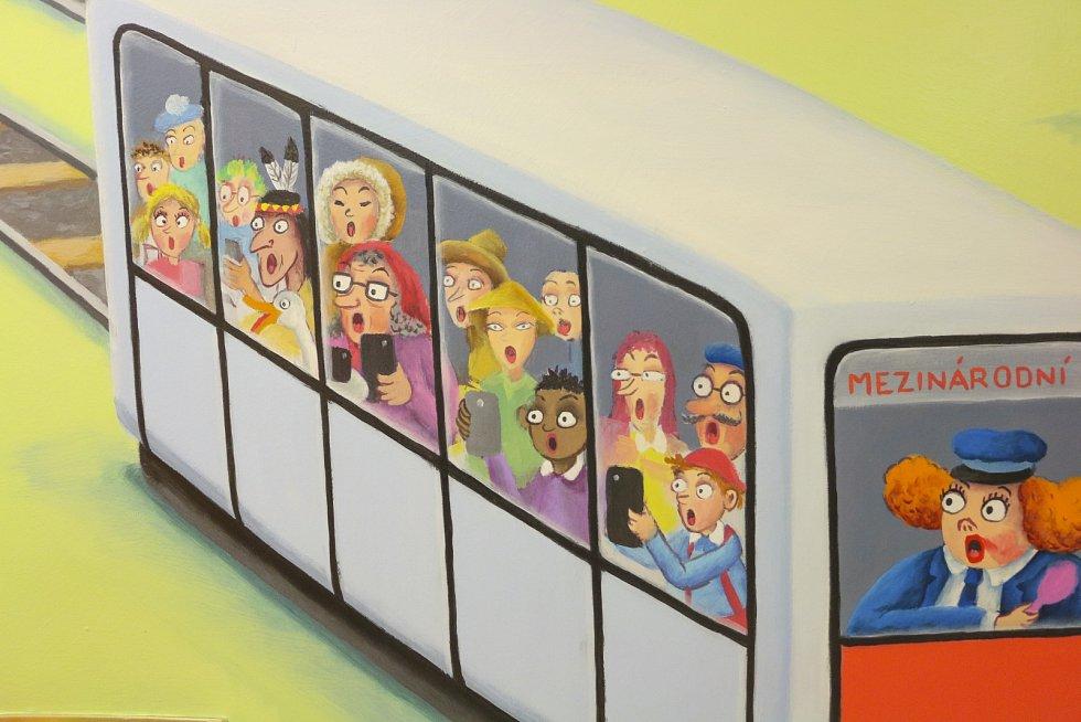 Dětská pohotovost ve Fakultní nemocnici v Motole má novou výzdobu.