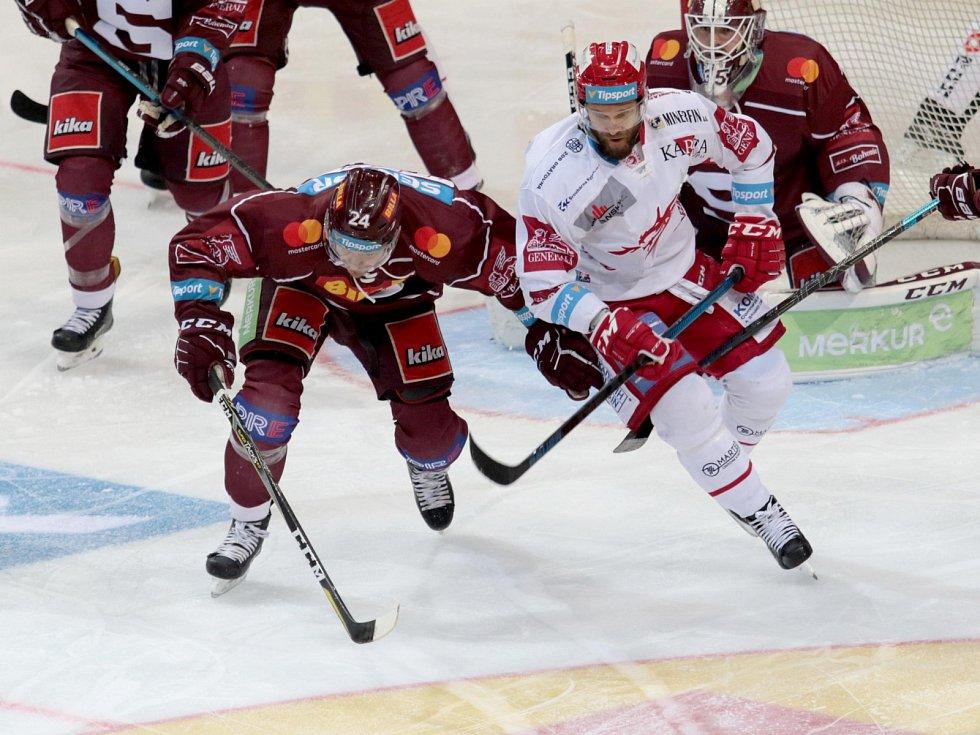 Hokejisté Sparty v rámci 22. kola extraligy podlehli Třinci.