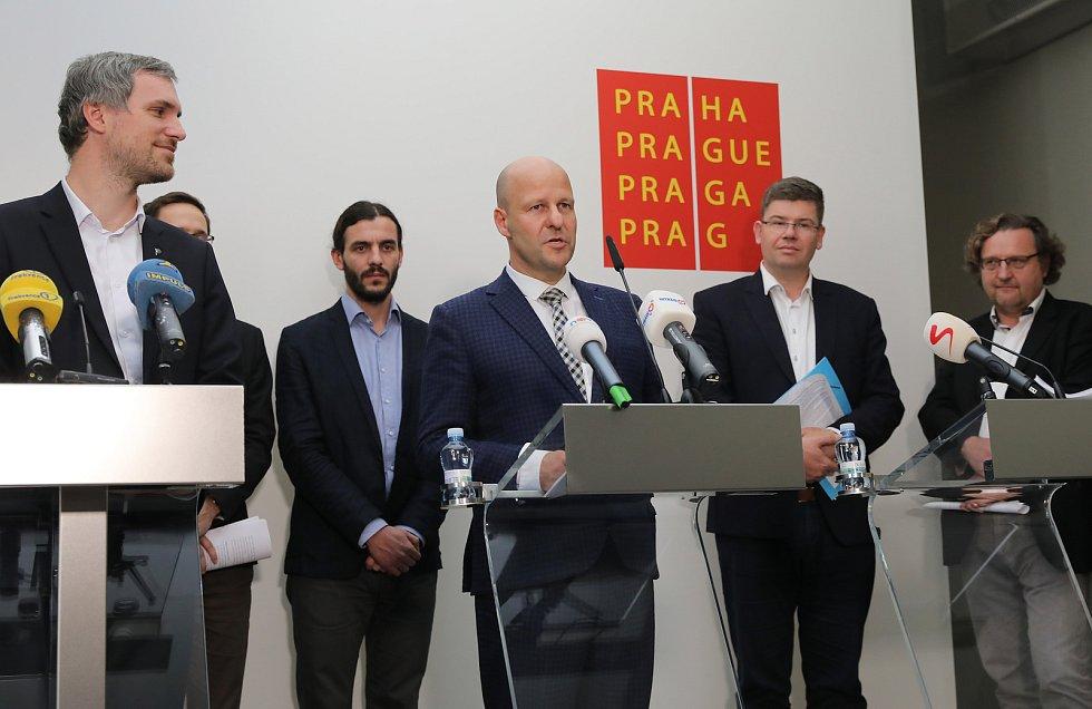 Představení programu nové koalice na Magistrátu hlavního města Prahy.